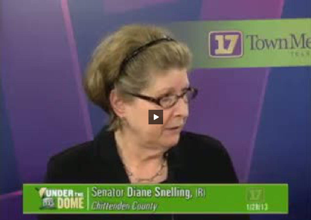 Under the Dome : Conversations with Your Legislators: Senator Diane Snelling and Sen. Philip Baruth